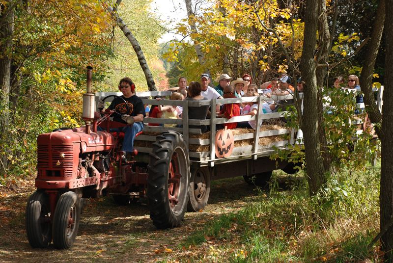 Take a hayride with your family and friends.